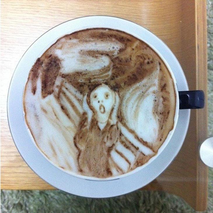 Edvard Munch The Scream Latte Art