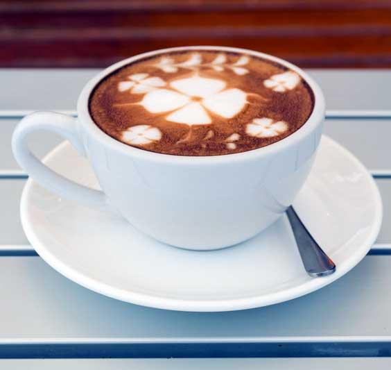 Four Leaf Clover Latte Art