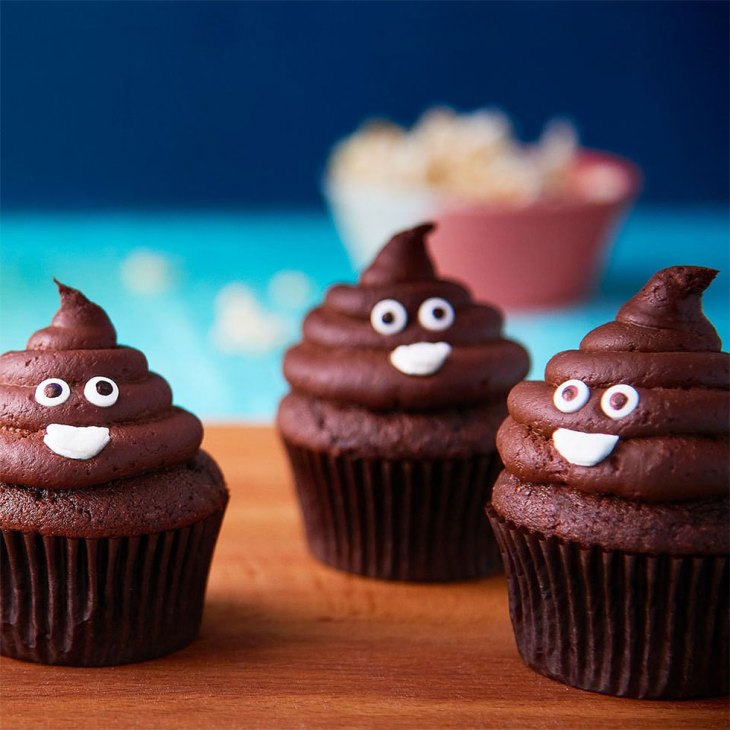 How to Make Poop Emoji Cupcakes