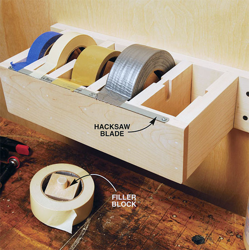 DIY Garage Hacks | Jumbo Tape Dispenser