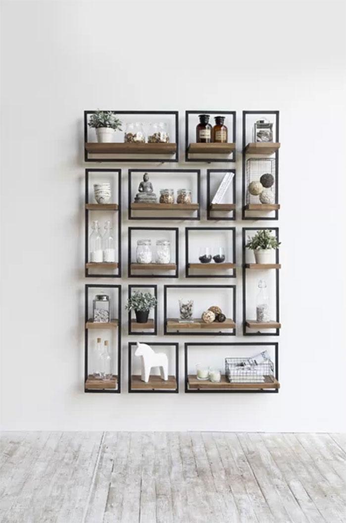 Langridge Metal Frame Wall Shelf