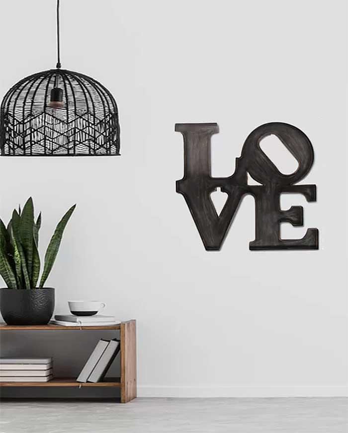 Love Metal Wall Art