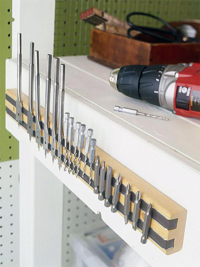 DIY Garage Hacks   Magnetic Drill Bit Holder