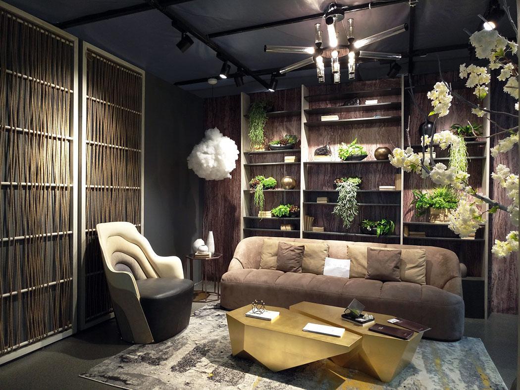 Modern Wood Built in Shelves
