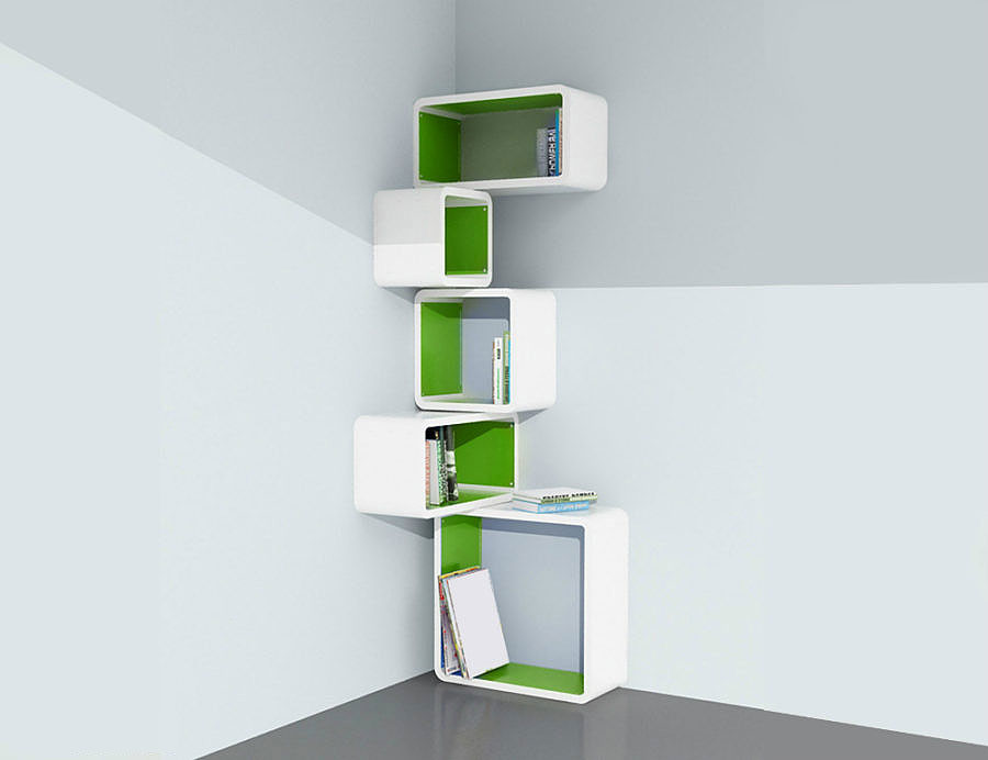 Modular Corner Cube Wall Shelf