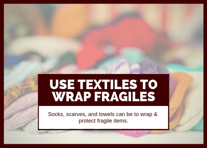 Moving Tip #10 Use Textiles to Wrap Fragile Items