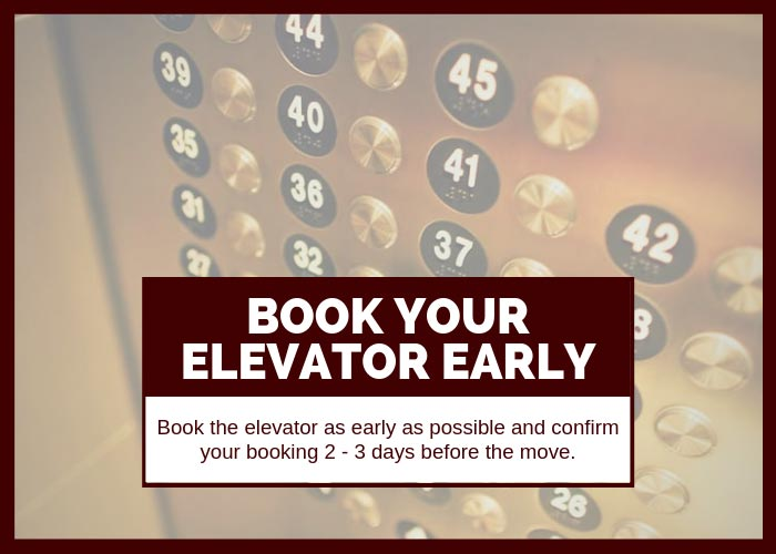 Moving Tip #4 Book Your Elevator Early