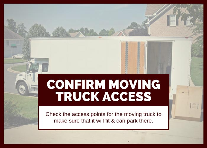 Moving Hack 5 Confirm Access Parking Moving Truck