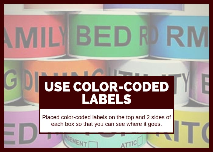 Moving Tip #8 Use Color Coded Labels