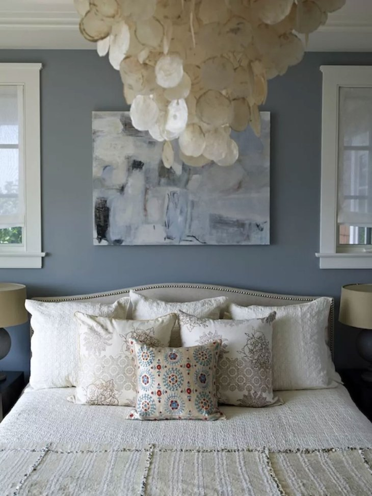 Neutral Gray-Blue Bedroom