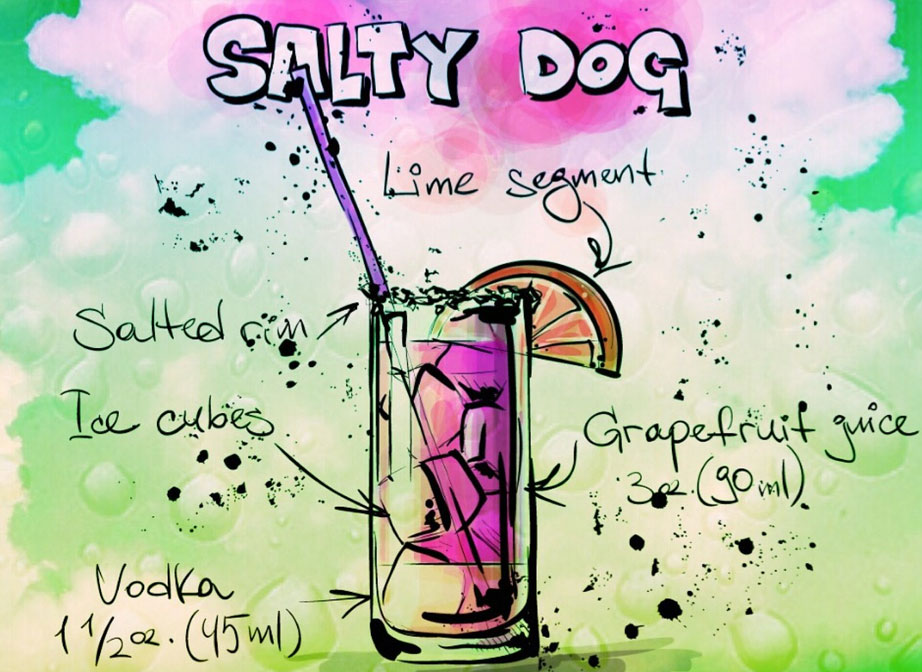 Salty Dog Summer BBQ Cocktail