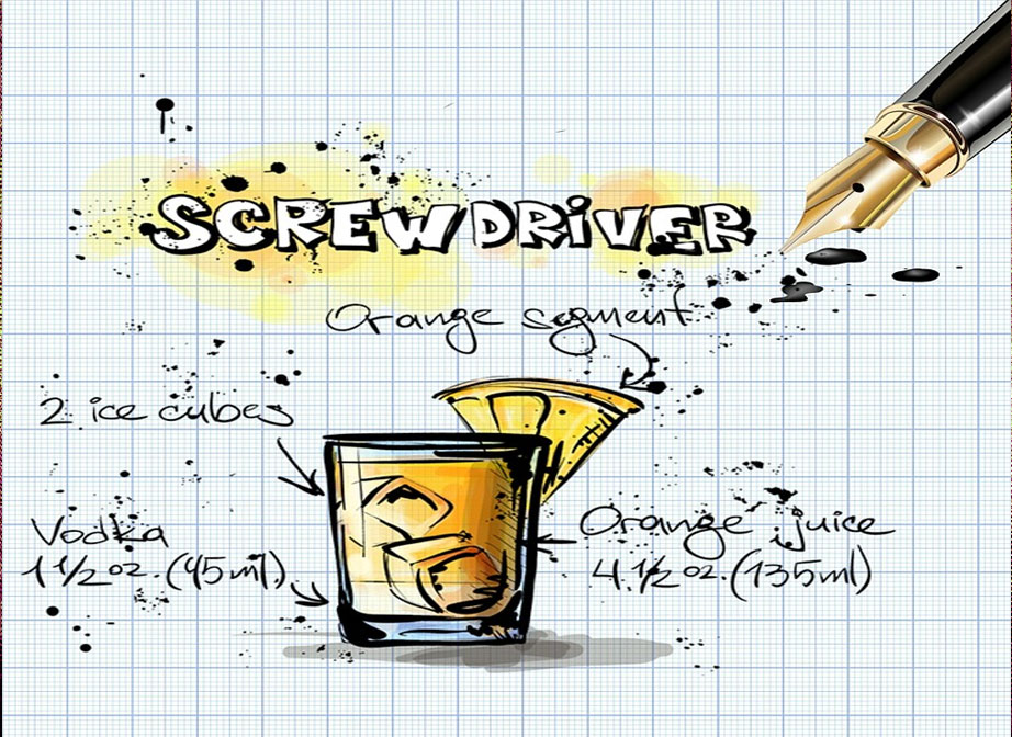 Screwdriverr Summer BBQ Cocktail