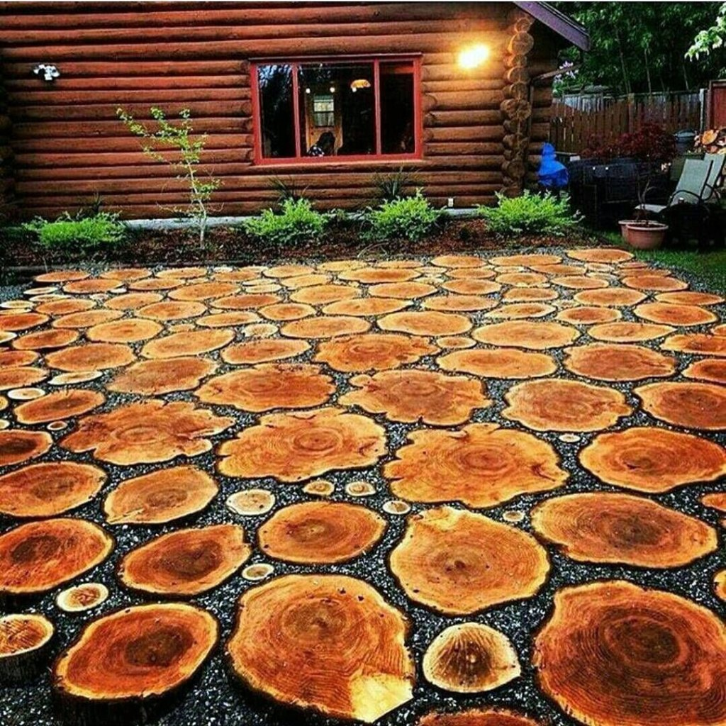Sliced Tree Stump Stepping Stones