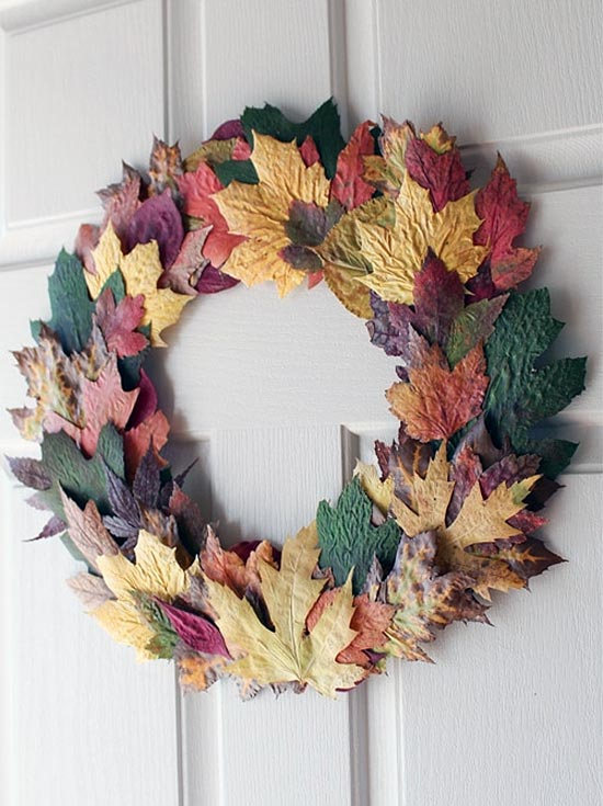 Super Simple Fall Leaf Wreath