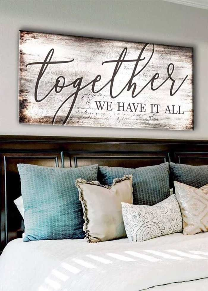 Together We Have It All Couples Wall Art