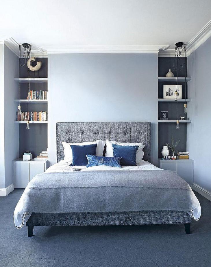 Tone on Tone Blue Bedroom