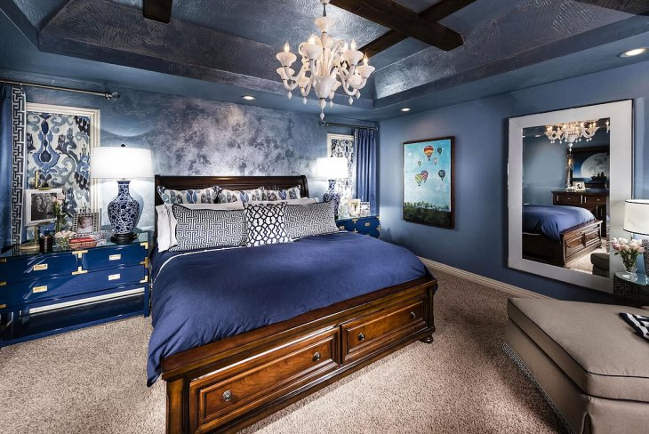 Traditional Blue Bedroom with a Twist