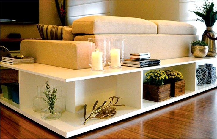 Wrap Around Sofa Shelf