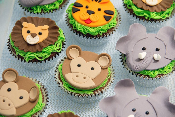 Zoo Animals Kids Cupcakes
