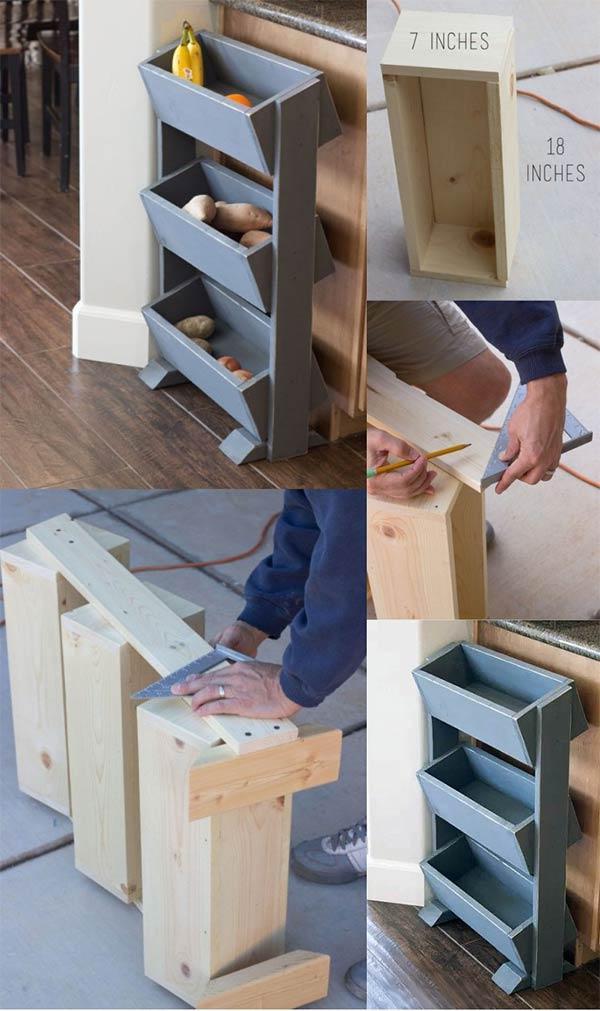DIY Produce Bin Stand