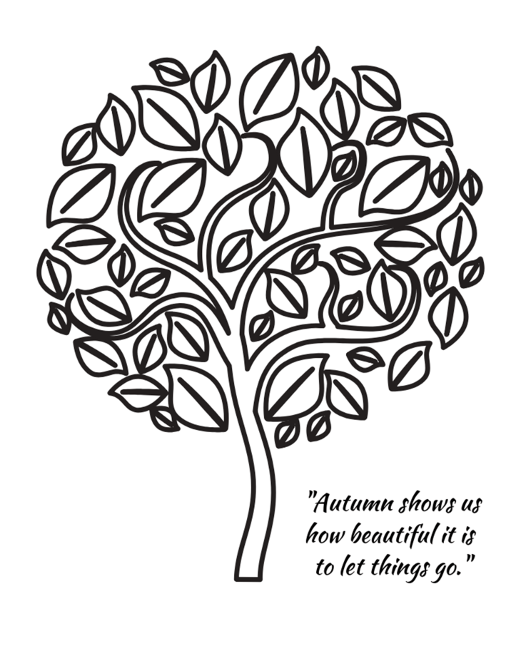 Autumn shows us how beautiful it is quote Printable