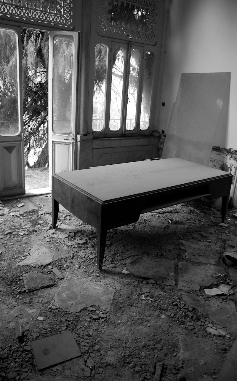 Desk in Abandoned Office