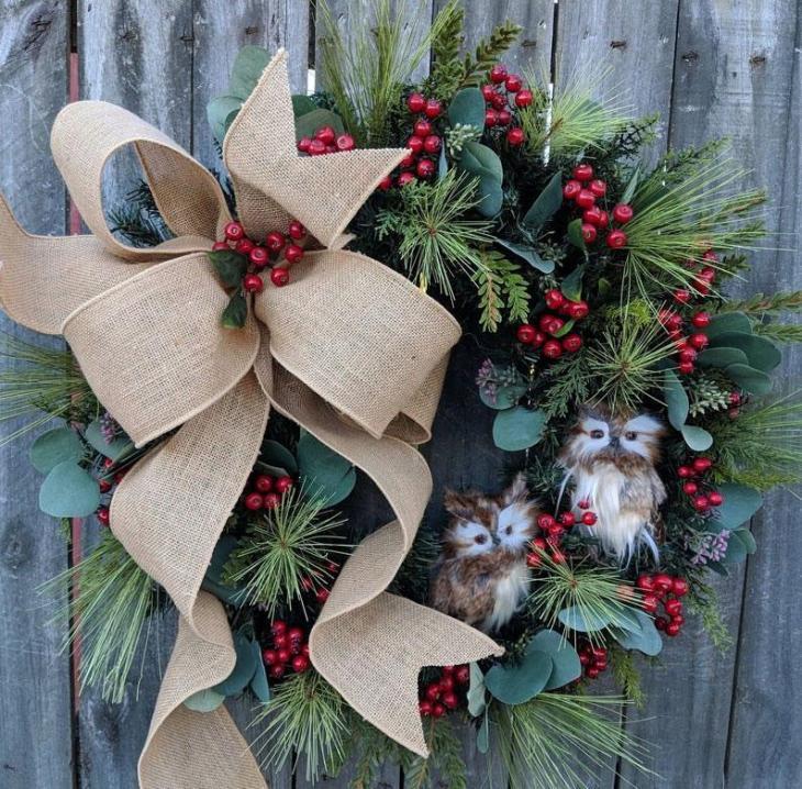 Adorable Owl Wreath