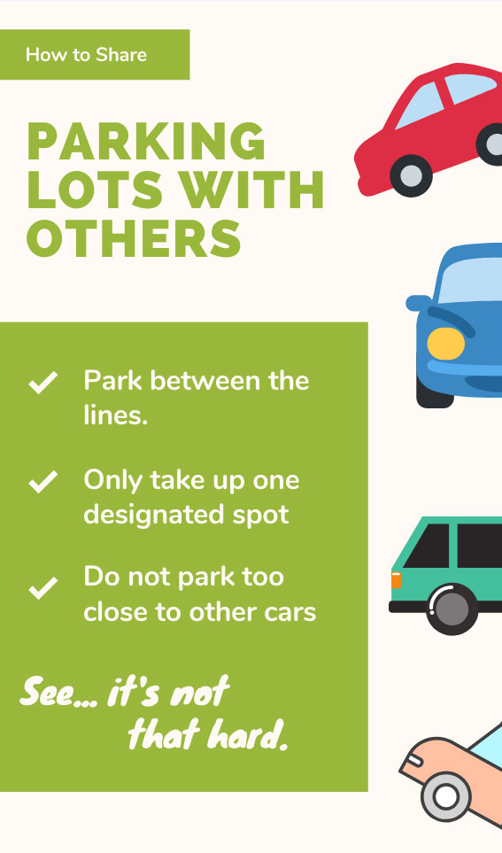 How to Share Parking Lots with Others | Bad Parking Business Card Note