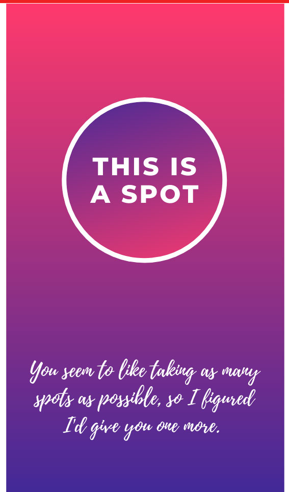 This is a Spot | Bad Parking Business Card Note