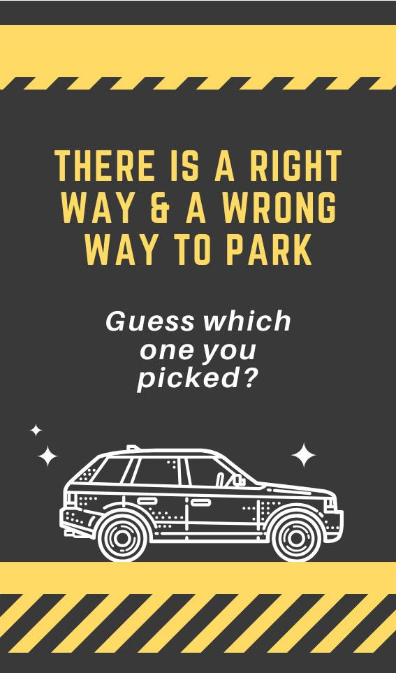 There is a Right Way & a Wrong Way to Park | Bad Parking Business Card Note