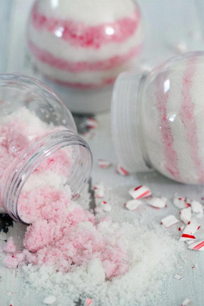 Candy Cane Sugar Scrub DIY Christmas Gifts