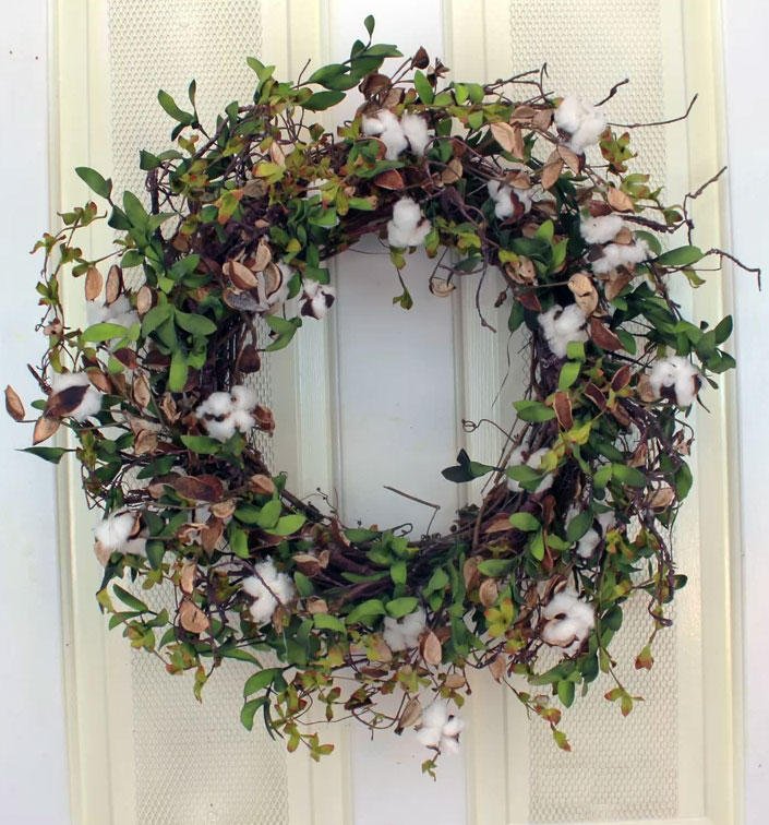 Cotton & Eva Herb Leaves Wreath