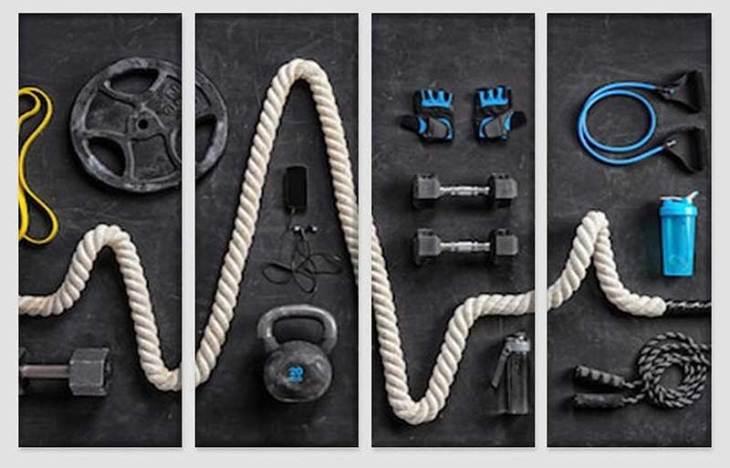 Crossfit Canvas Gym Art Set