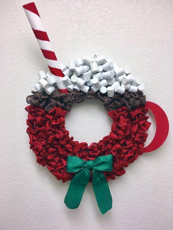 DIY Hot Cocoa Wreath
