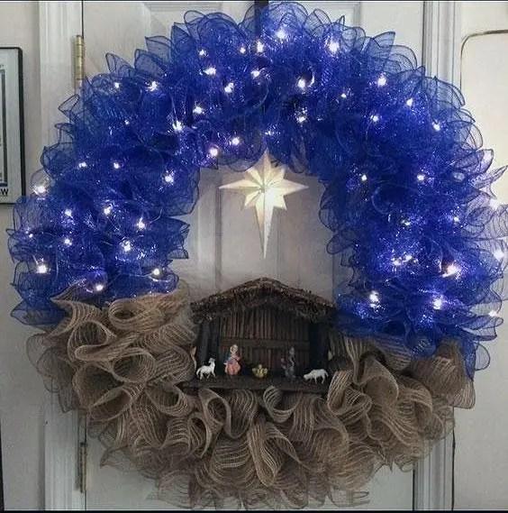 DIY Nativity Wreath