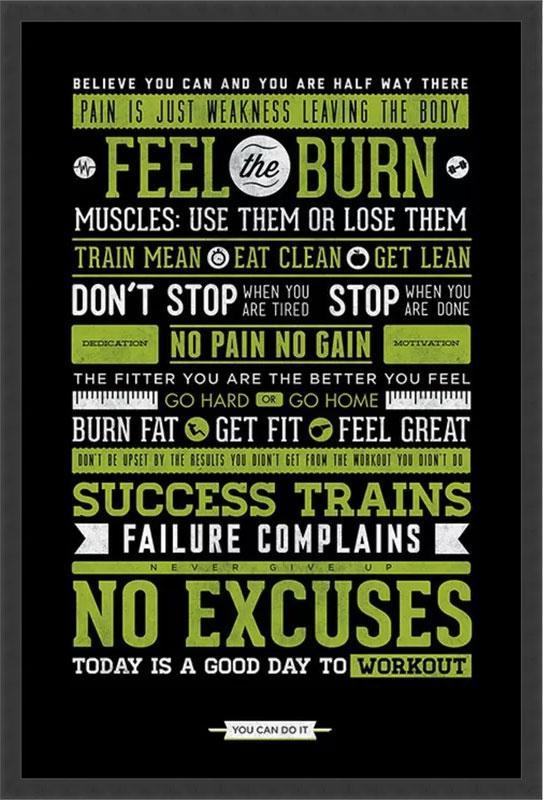 Feel the Burn Fitness Art Print