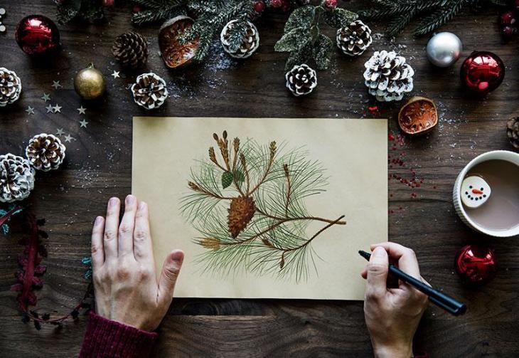 Hand-Drawn Christmas Decor