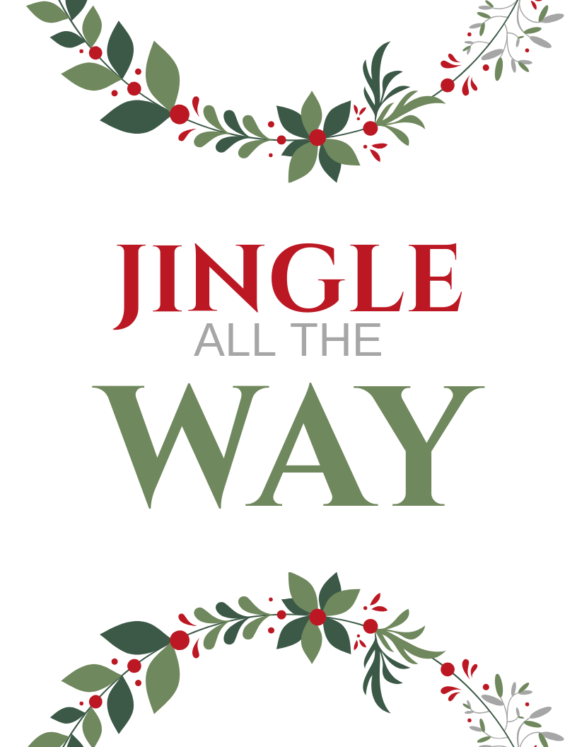 Jingle All the Way Christmas Printable