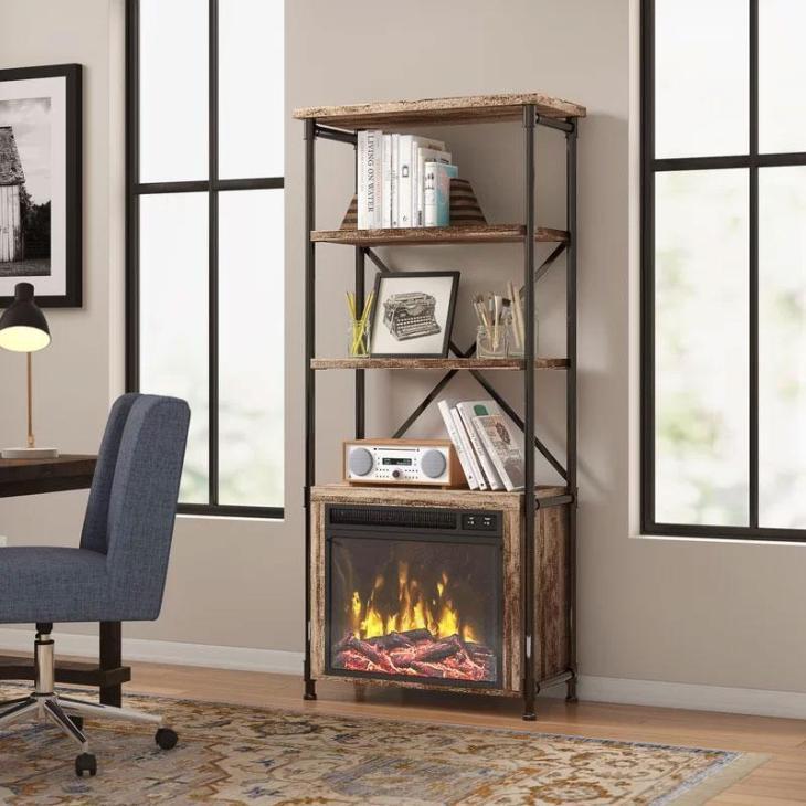 Millen Etagere Fireplace Bookcase