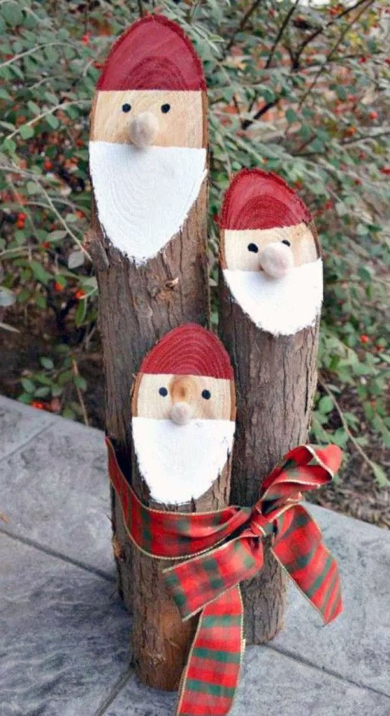 Outdoor DIY Santa Logs