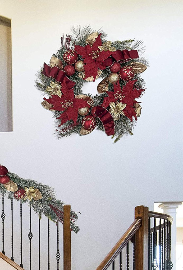 Red & Gold Christmas Wreath