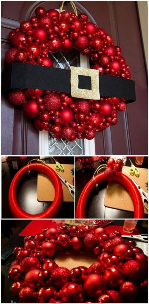Santa Buckle Wreath