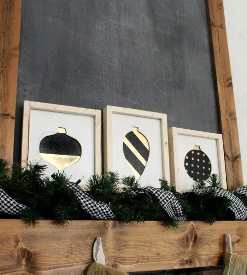 Scrap Wood DIY Framed Ornaments