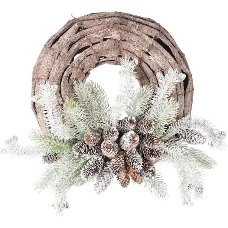 Snow Pine Wreath