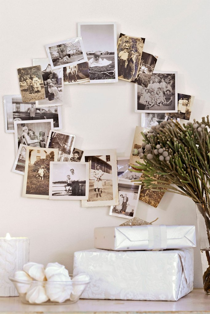 Vintage Photo Collage Wreath