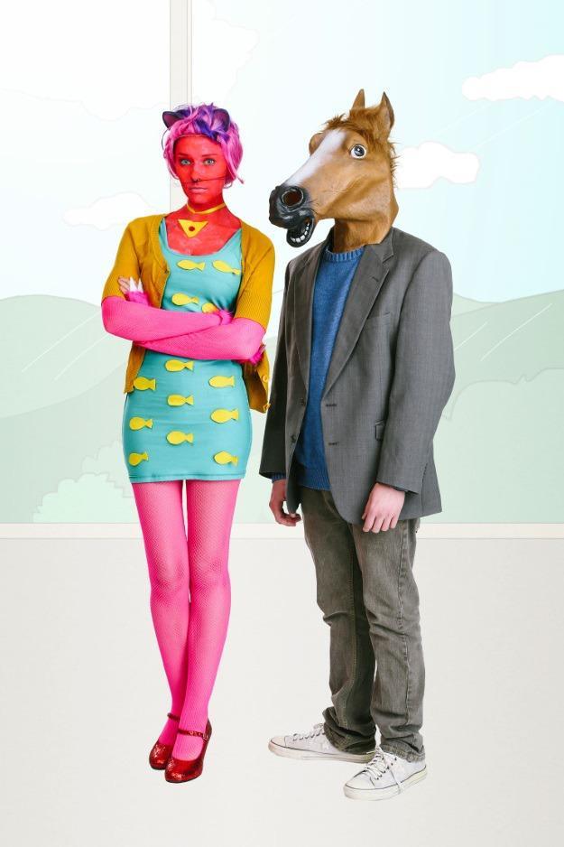 Netflix Bojack Horseman and Princess Carolyn Couples Costume