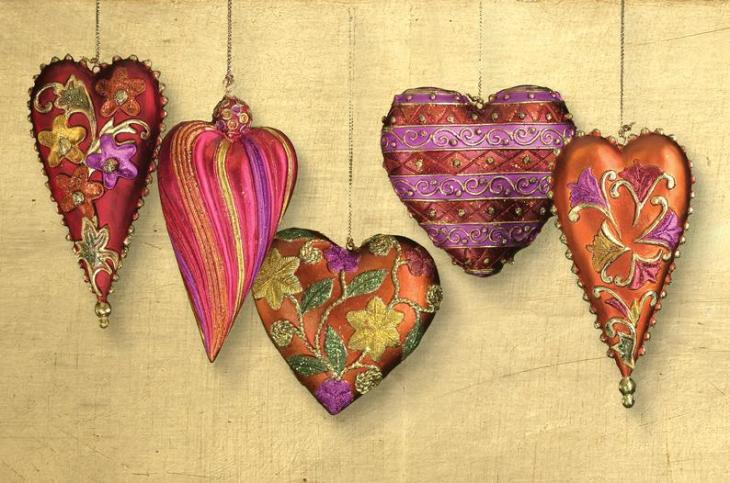 Heart-Shaped Valentine Ornaments