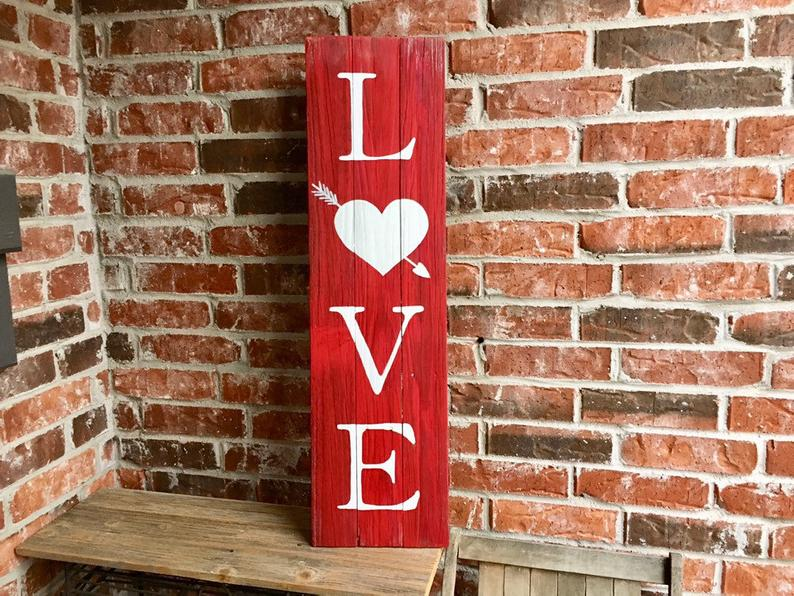 Rustic Reclaimed Wood Love Sign