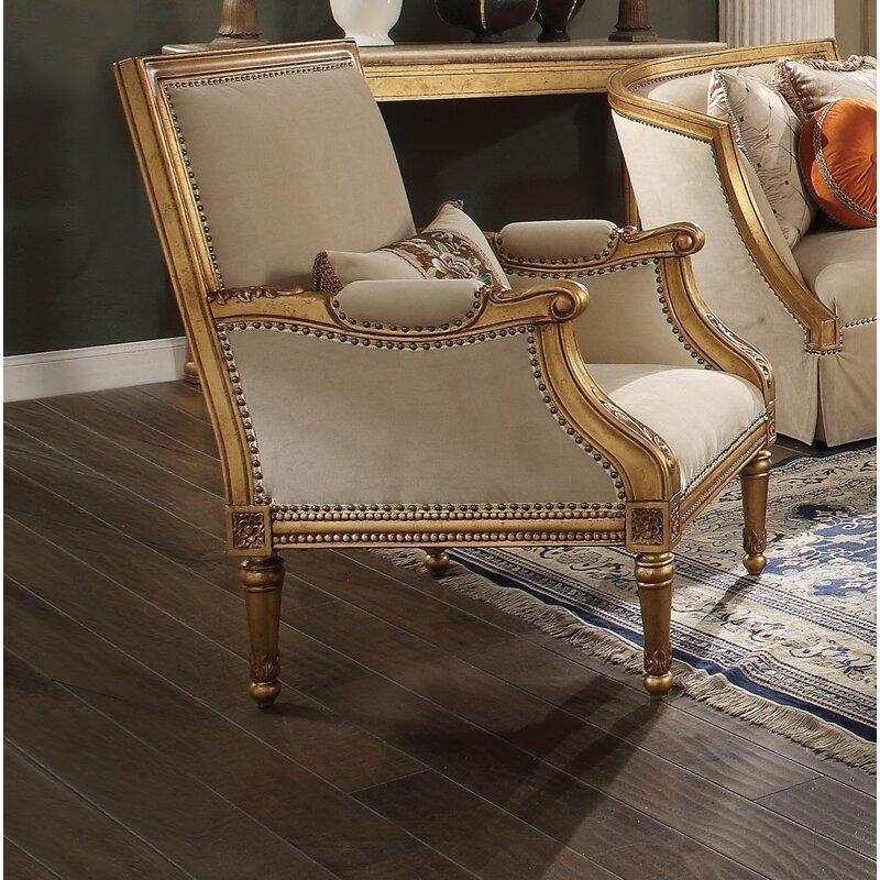 Astoria Grand Neece Gold Armchair