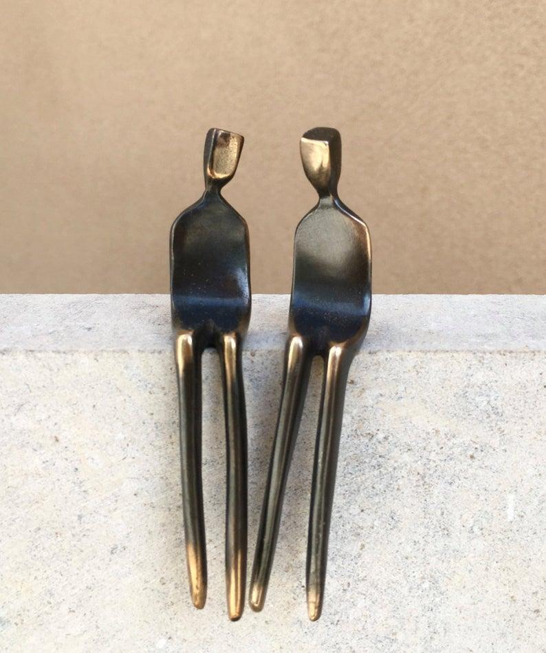 Be Mine Gay Couple Bronze Sculpture Set
